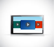 Tablet and videos. illustration design Stock Photography