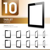 10 Tablet Views - Realistic Royalty Free Stock Images