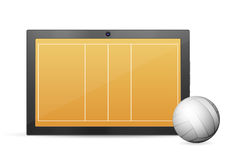 Tablet volleyball Royalty Free Stock Image