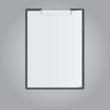 Tablet voor document op grijze achtergrond vector illustratie