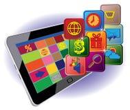 Tablet voor het werk Royalty-vrije Stock Foto