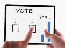 Tablet for vote Royalty Free Stock Photo