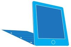 Tablet vs Paper Stock Image