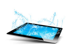 Tablet water royalty free illustration