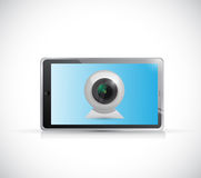 Tablet and web camera illustration design Stock Photos
