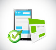 Tablet web responsive site illustration design Stock Photo