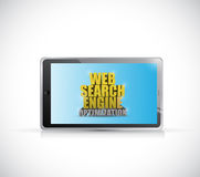 Tablet web search engine optimization sign Royalty Free Stock Photos