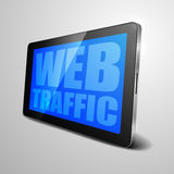 Tablet Web Traffic Stock Photo