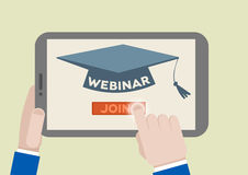 Tablet Webinar Stock Images