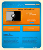 Tablet website template Stock Photo