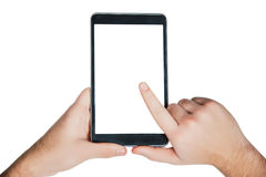 Tablet on a white background, business ideas, online sales, frame ideas. A stock images
