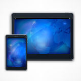 Tablet on white Royalty Free Stock Images