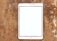 Tablet with copy space white screen  Stock Image