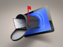 Tablet whith mailbox Stock Photo