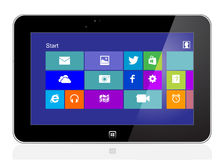 Tablet with windows 8 Royalty Free Stock Photo