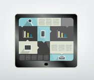 Tablet wit box diagram. Stock Photography