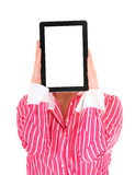 Tablet woman Royalty Free Stock Photography