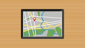 GPS location app from tablet HD animation