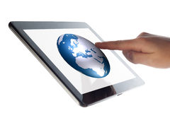 Tablet World Globe Royalty Free Stock Image