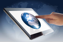 Tablet World Globe Royalty Free Stock Photos