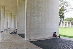 Tableta americana del cementerio de Manila de los desaparecidos foto de archivo