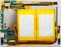 Tableta androide desmontada Imagen de archivo libre de regalías
