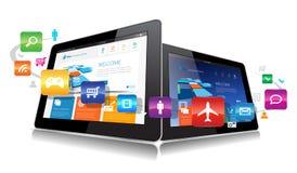 Tableta App del vector