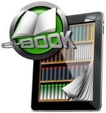 Tableta - biblioteca EBook stock de ilustración