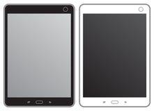 Tableta blanco y negro Imágenes de archivo libres de regalías