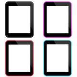 Tableta coloreada vector Imagenes de archivo