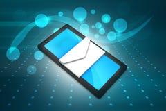Tableta con el email Imagen de archivo