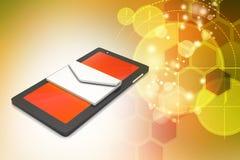 Tableta con el email Imagen de archivo libre de regalías