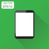 Tableta con el icono blanco de la pantalla Pictogr del ordenador del concepto del negocio libre illustration