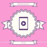 Tableta con el icono del botón de reproducción Elementos gráficos para su diseño libre illustration