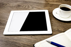 Tableta con una pantalla vacía fotografía de archivo libre de regalías