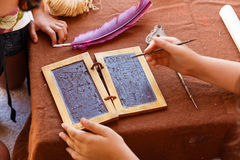 Tableta de cera Roman Empire fotos de archivo