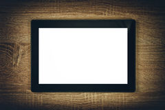 Tableta de Digitaces con el espacio de la copia de pantalla en blanco Imagenes de archivo