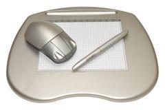 Tableta de gráficos imágenes de archivo libres de regalías
