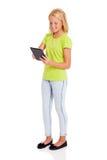 Tableta de la muchacha del preadolescente Imagen de archivo libre de regalías