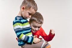 Tableta de los muchachos imagen de archivo libre de regalías