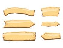 Tableta de madera del letrero del directorio del tablero de madera del camino que indica el ejemplo del vector de la manera de la Foto de archivo libre de regalías