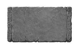 Tableta de piedra con el extranjero o símbolos de la fantasía/runas stock de ilustración