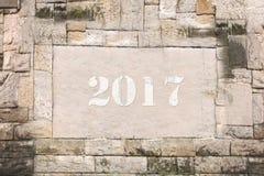Tableta de piedra en 2017 Foto de archivo libre de regalías