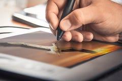 Tableta del diseño gráfico fotografía de archivo