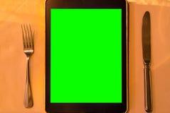 Tableta del menú fotografía de archivo libre de regalías