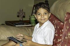 Tableta del niño Fotografía de archivo