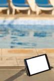 Tableta digital en blanco con el espacio vacío al lado del Imagen de archivo libre de regalías