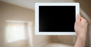 tableta a disposición en nuevo hogar libre illustration