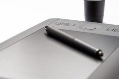 Tableta electrónica del dibujo foto de archivo