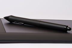Tableta electrónica del dibujo foto de archivo libre de regalías
